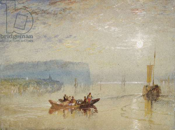 Scene on the Loire, near the Coteaux de Mauves, c.1830 (w/c on paper)