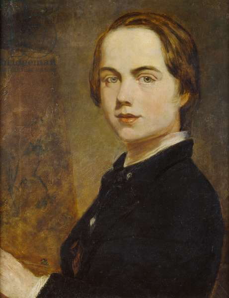 Self-portrait at the Age of 14, 1841 (oil on canvas)