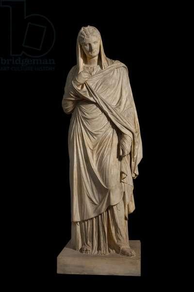 Cast of large Herculaneum woman, original dated 1st century AD (plaster)