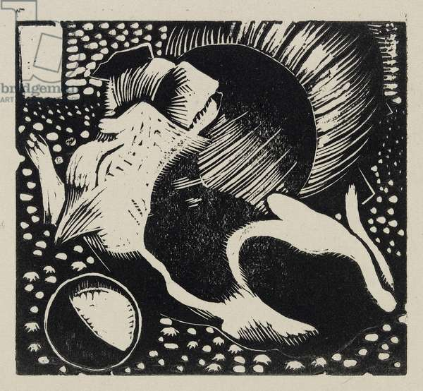 The Watchdog, 1919 (wood engraving)