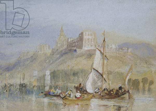 Montjean, c. 1830 (watercolour with bodycolour and pen and black and brown ink)