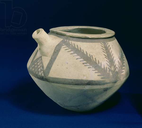 Spouted Vessel from Jamdat Nasr, Iraq, 3000-2850 BC (painted pottery)
