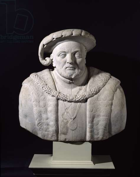 Bust of Henry VIII (1491-1547) (marble)