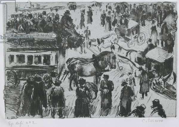 Place du Havre, à Paris, c. 1897 (lithograph on zinc)