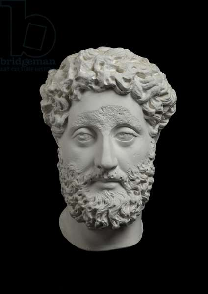 Cast of portrait of Commodus, Italy, original dated AD 180-192 (plaster)
