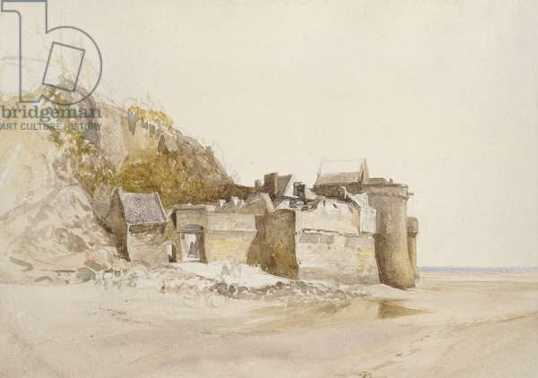 Mont St Michel: The Outer Gate, c. 1876 (watercolour on paper)