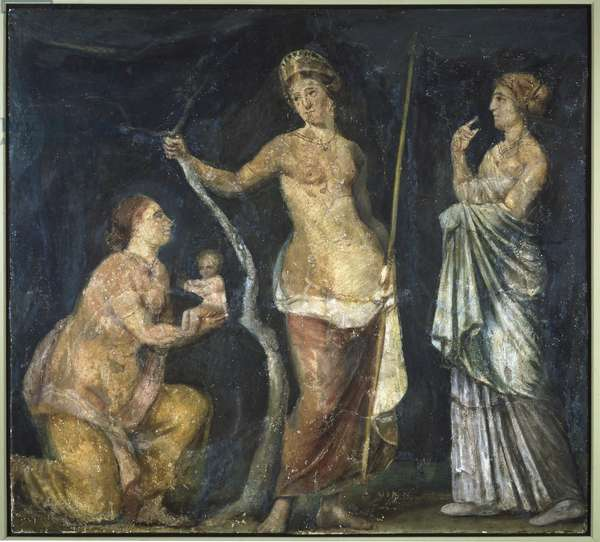 The Birth of Adonis, fragment from the Golden House of Nero, Rome, c.64-68 (fresco)