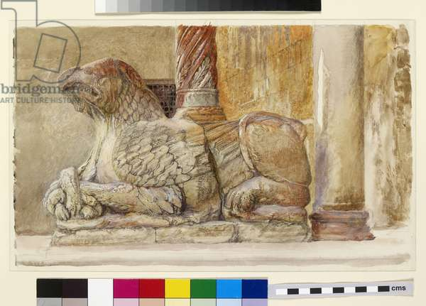 Gryphon, Verona, 19th century (w/c on paper)
