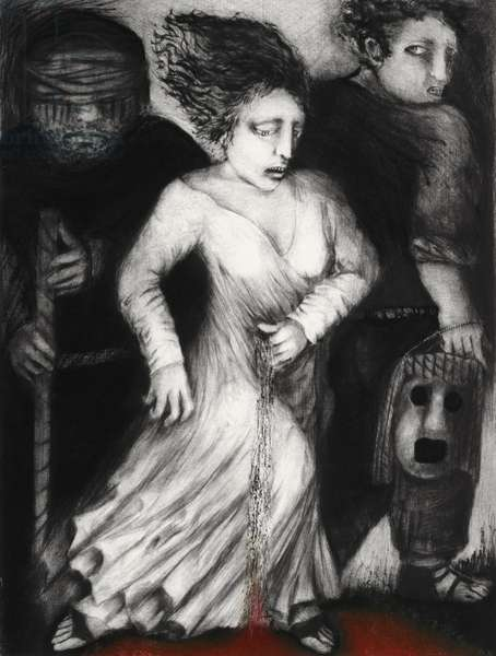 Burial, 2014 (drypoint)