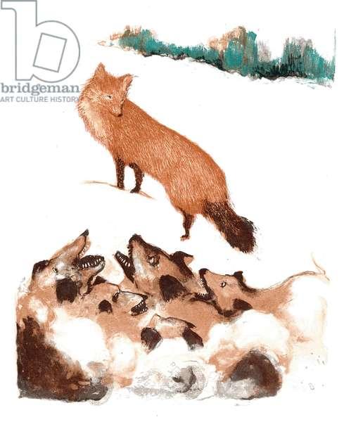 A Modern Bestiary – Fox, 2004 (screenprint)