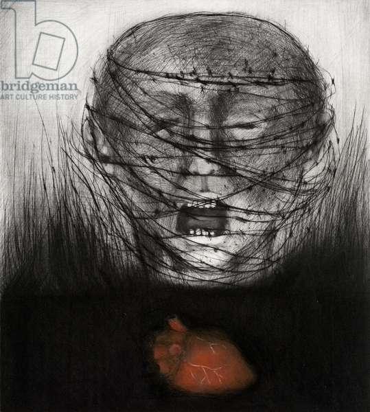 Dark Event IV, 2007 (drypoint)