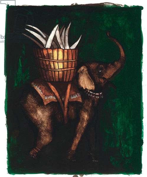A Modern Bestiary – Elephant, 2004 (screenprint)