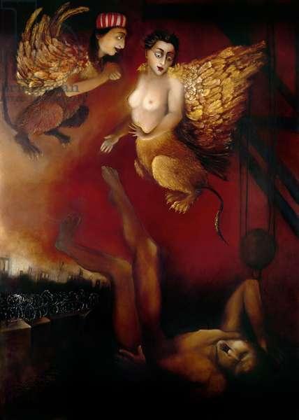 Luz Eterna, 1999 (oil on gesso)