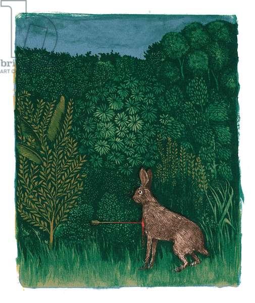 A Modern Bestiary – Hare, 2004 (screenprint)
