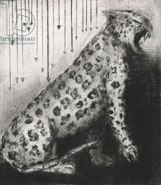 There Was This Jaguar – In Peril, 2014 (drypoint)