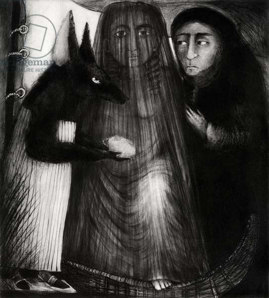 Dark Event VII, 2007 (drypoint)