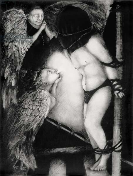 The Dark Night of the Soul, 1993 (drypoint)