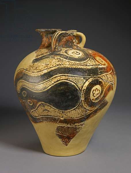 Pottery Jar with Octopus Design, Knossos, Crete, Late Minoan period II, c.1450-1400 BC (painted earthenware)