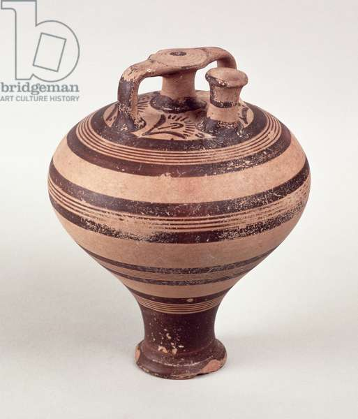 Stirrup Jar, c.1500-1200 BC (painted earthenware)
