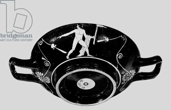Athenian red-figure stemless cup, c.400 BC (ceramic) (see also 278896)