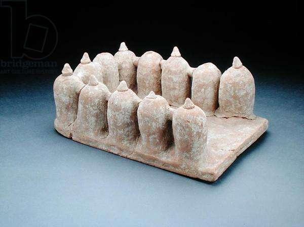 Model of a granary (clay)