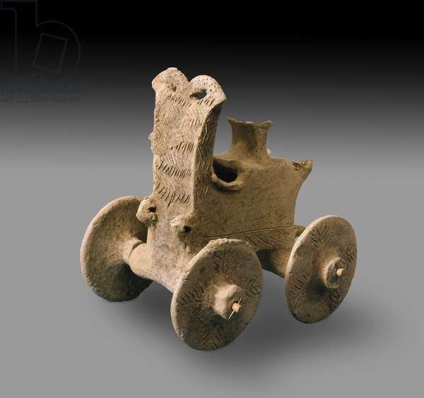 Prehistoric model Chariot (baked clay)