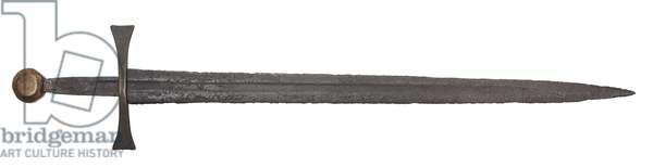 Medieval sword, 1250-1300 (metal)