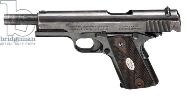 Colt Model 1911 Government model centrefire self loading pistol, 1914 (photo)