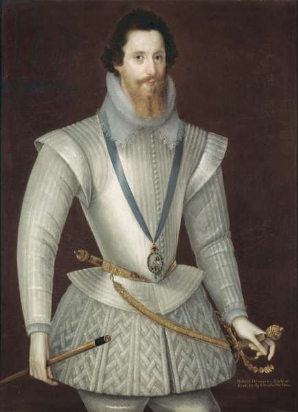 Portrait of Robert Devereux, 2nd Earl of Essex, late 16th century (oil on panel)