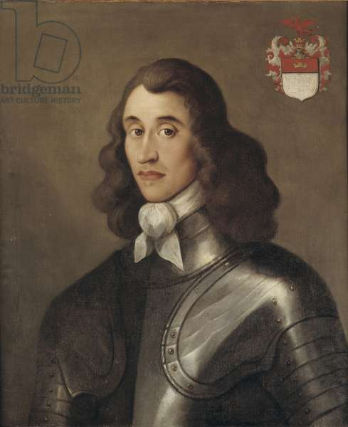 Portrait of Major General Charles Worlsey, mid 17th century (oil on canvas)