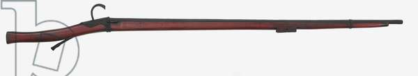 Matchlock wall gun (wood & metal)