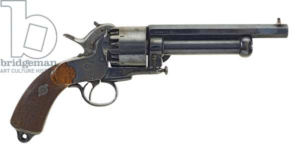 Percussion nine-shot revolver, c.1860 (photo)