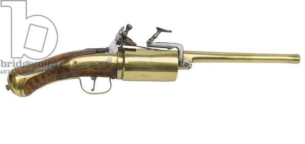 Snaphaunce six-shot revolver, 1660 (photo)