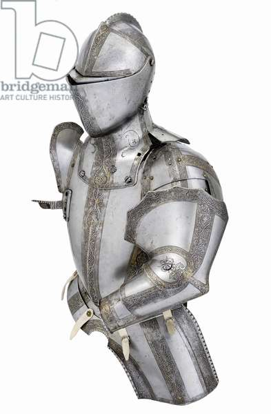 Parts of a tilt armour of the Marques de Villafranca, Augsburg, probably 1551 (metal)