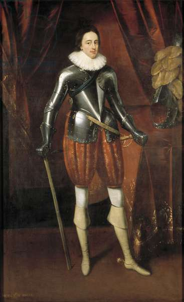 Portrait of Charles I as Prince of Wales, early 17th century (oil on panel)