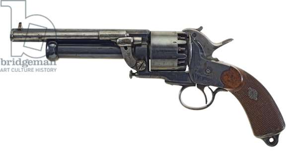 Percussion nine-shot revolver, 1860 (photo)