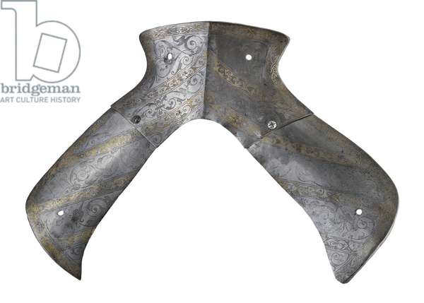Saddle steels, from a lost armour of King Henry VIII, Greenwich, c.1540 (metal)