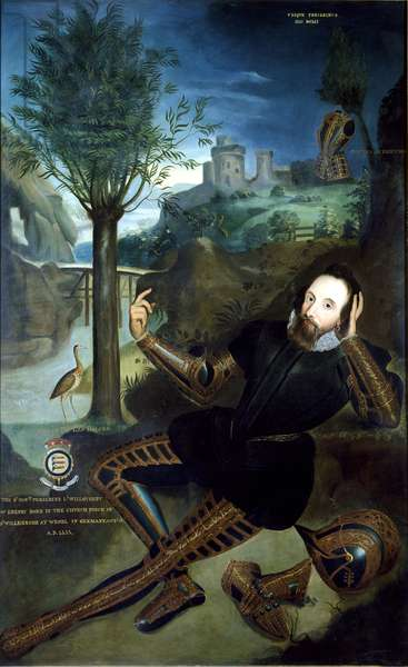 Portrait of Lord Willoughby d'Eresby (1555-1601) (oil on canvas)