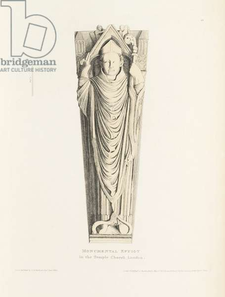 Monumental Effigy in the Temple Church, London, 1812 (etching)