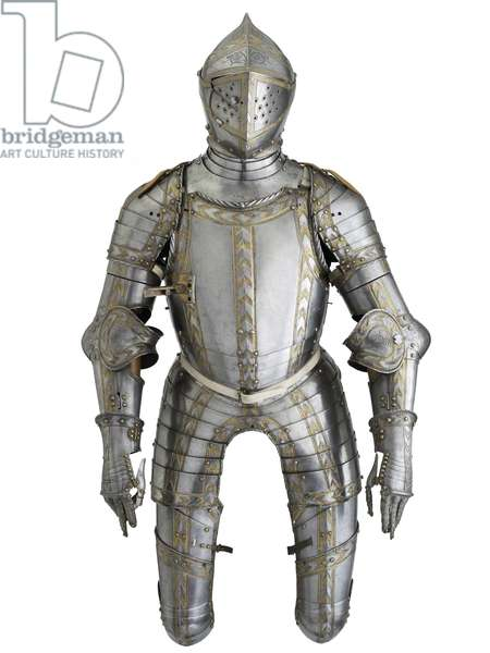 Armour for field and tilt of a member of the Hirnheim family, South German, probably Augsburg, c.1550-60 (metal)