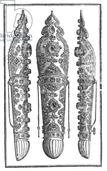 A Turkish arm defence, 1576 (engraving)