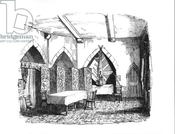 The State Prison Room on the first floor of the Beauchamp Tower in use as a officer's Mess, c.1845 (engraving)