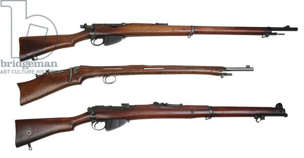 Comparison shot of 3 centrefire rifles.,  (photo)