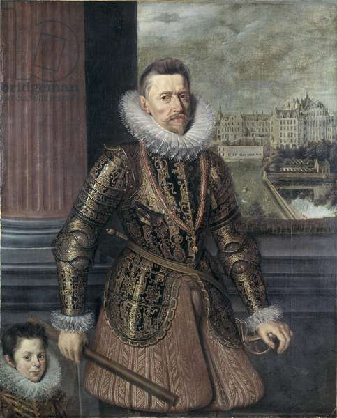 Portrait of Albert, Archduke of Austria, late 16th century (oil on board)