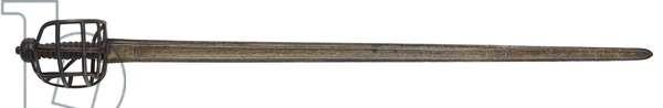 2nd Troop of Horse Guards basket-hilted sword, 1730-70 (metal)