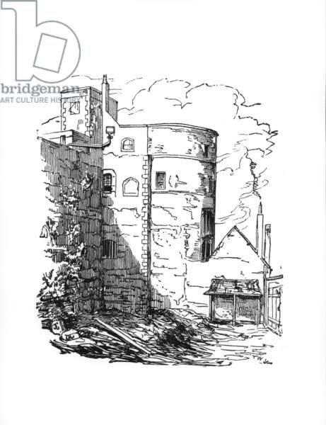 The Martin Tower (Jewel House), c.1845 (engraving)