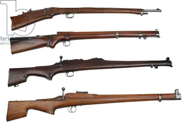 Comparison shot of 4 Thorneycroft Models,  (photo)