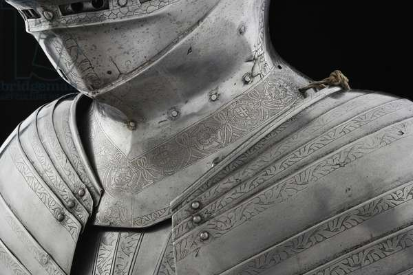 Detail of tonlet armour of King Henry VIII, 1520 (metal)