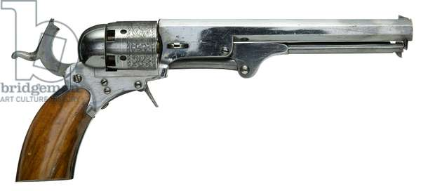 Colt Paterson percussion five-shot revolver, c.1840 (steel with walnut grip)