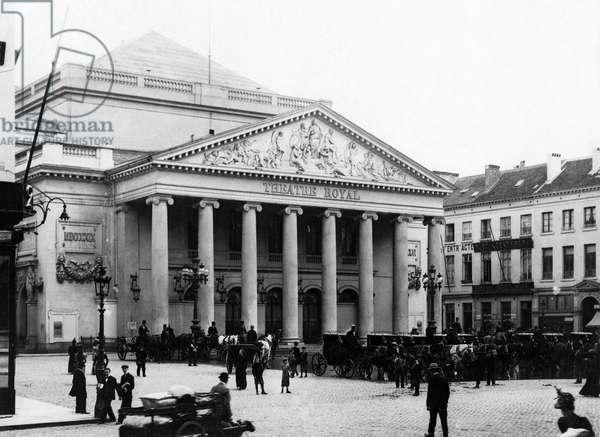 Théâtre Royal de la Monnaie, Brussels, Belgium, 1917-1918 (b/w photo)